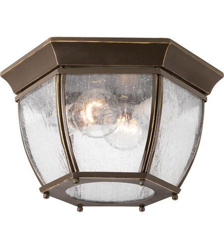 Progress Lighting Roman Coach 2 Light Outdoor Flush Mount in Antique Bronze P6019-20 photo