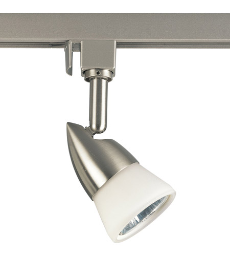 Progress P6111 09w Track Lighting 1 Light 120v Brushed Nickel Mr 16 Line Voltage Head Ceiling In White Gl