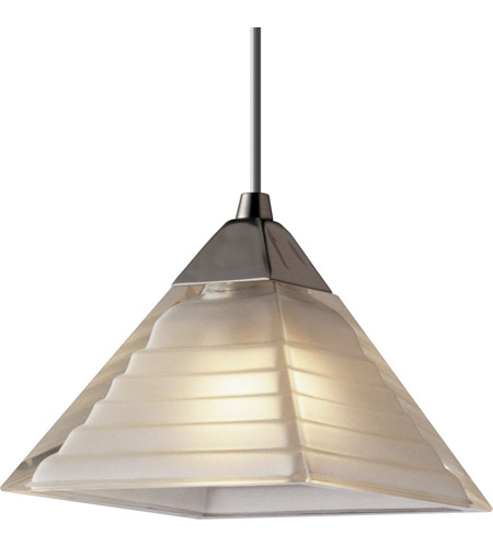 Illuma Flex 1 Light Low Volt Brushed Nickel Track Fixture Ceiling In Pyramid White
