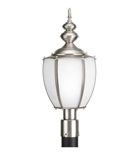 Progress Lighting Roman Coach 1 Light Outdoor Post Lantern in Brushed Nickel P6413-09 photo
