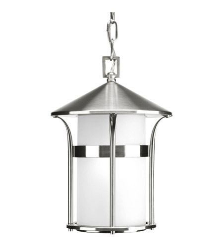 Progress P6506-135 Welcome 1 Light 9 inch Stainless Steel Outdoor Hanging Lantern photo