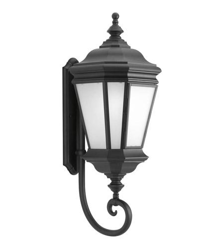 Progress Lighting Crawford 1 Light Outdoor Wall Lantern in Black P6614-31 photo