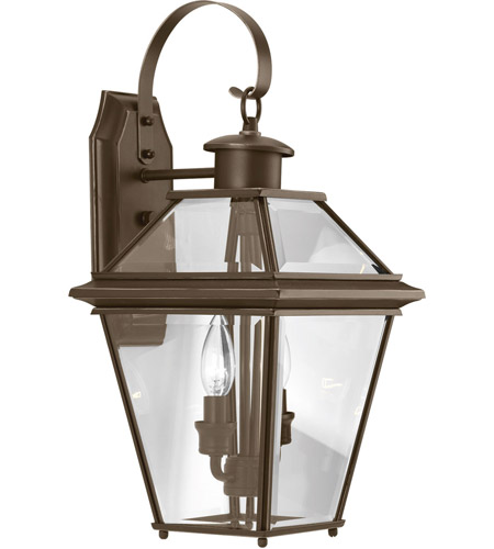 Progress P6616-20 Burlington 2 Light 19 inch Antique Bronze Outdoor Wall Lantern, Medium photo