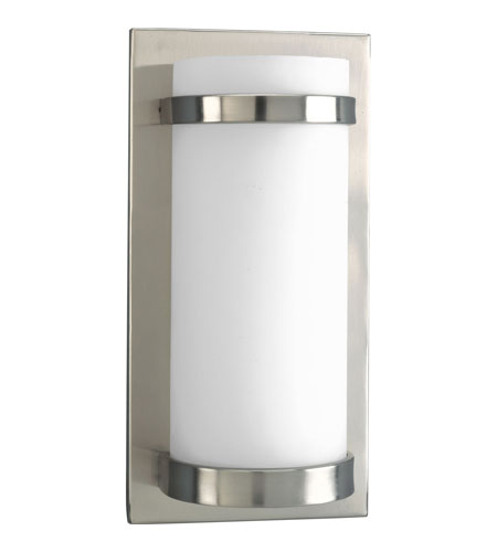 Progress Lighting Compact Fluorescent Wall 1 Light Wall Sconce in Brushed Nickel P7052-09EBWB photo