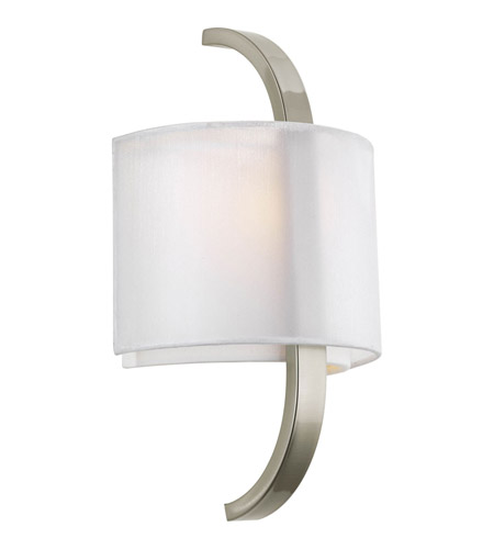 Progress Lighting Cuddle 1 Light Sconce in Brushed Nickel P7065-09 photo