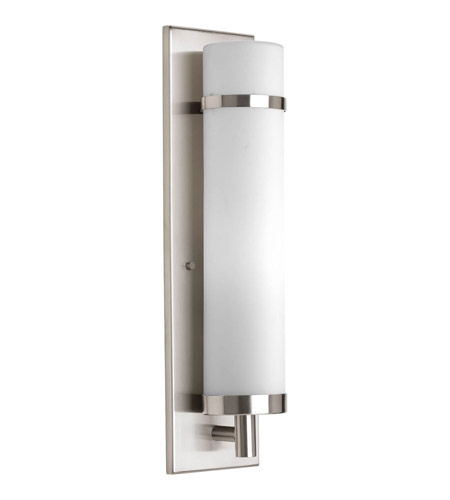 progress p708209 signature 1 light 5 inch brushed nickel wall sconce wall light