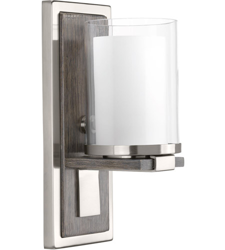 Progress P710015 009 Mast 1 Light 5 Inch Brushed Nickel Wall Sconce Wall  Light