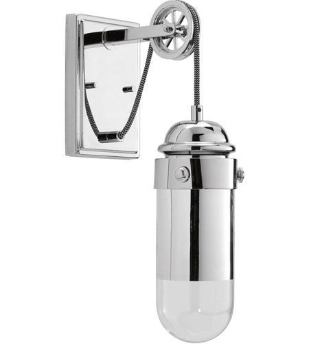 Progress P7117 1530K9 Beaker LED 5 Inch Polished Chrome Wall Sconce Wall  Light, Mirror And Clear Glass Part 6