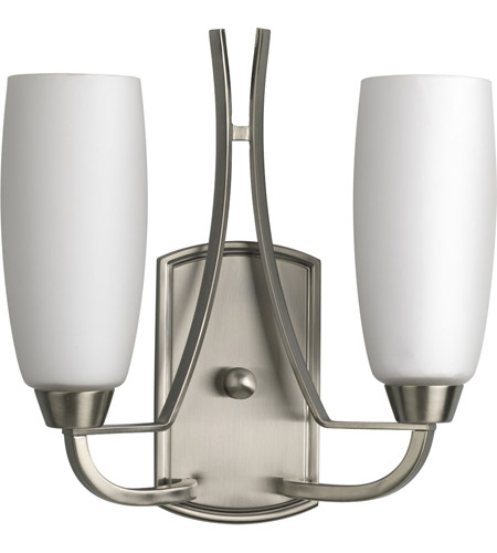 Progress Lighting Wisten 2 Light Wall Sconce in Brushed Nickel P7127-09 photo