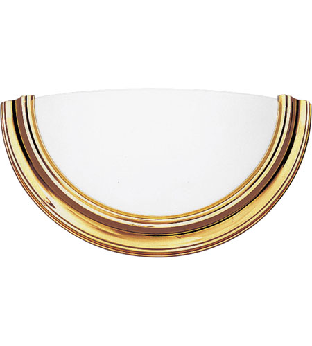 Progress P7171-10STRWB Eclipse 1 Light 15 inch Polished Brass ADA Wall Sconce Wall Light in Energy Star Rated photo