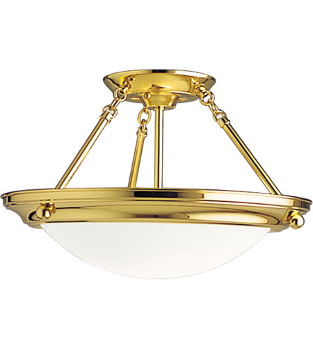 Progress Lighting Eclipse 2 Light Semi-Flush Mount in Polished Brass P7327-10EBWB photo