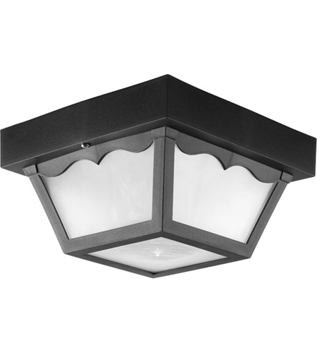 Progress P7340-31WB Non-Metallic 1 Light 8 inch Black Outdoor Ceiling Lantern photo