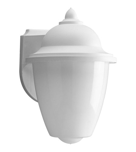 Progress Lighting Non-Metallic 1 Light Outdoor Wall Lantern in White P7344-30 photo