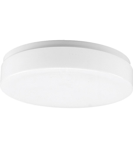 Progress P7377 30 Acrylic Round 1 Light 11 Inch White Flush Mount Ceiling