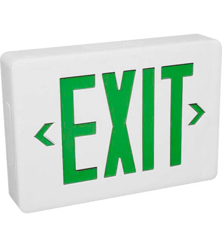 Wall Mounted Exit Lights : Progress Lighting Exit Sign Wall Mount in White PE002-30