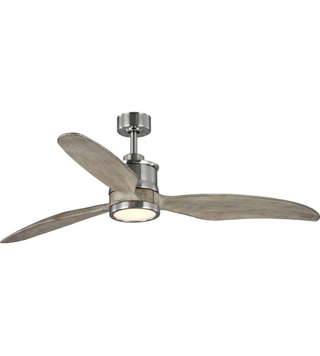 Progress P250002 009 30 Farris 60 Inch Brushed Nickel With Grey Weathered Wood Blades Ceiling Fan Progress Led