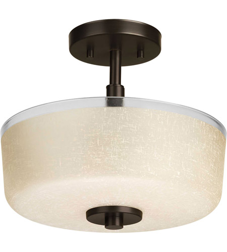 Progress P2851-20 Alexa 2 Light 12 inch Antique Bronze Semi-Flush Mount Ceiling Light photo