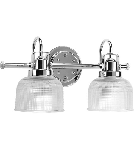 Polished Chrome Bath Vanity Wall Light, 2 Light Bathroom Vanity Light