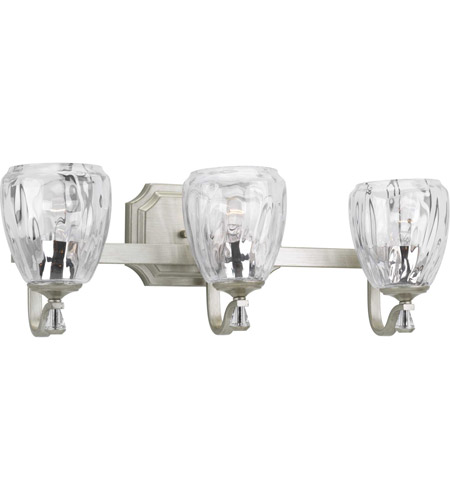 Progress P300118-134 Anjoux 3 Light 23 inch Silver Ridge Bath Vanity Wall Light photo