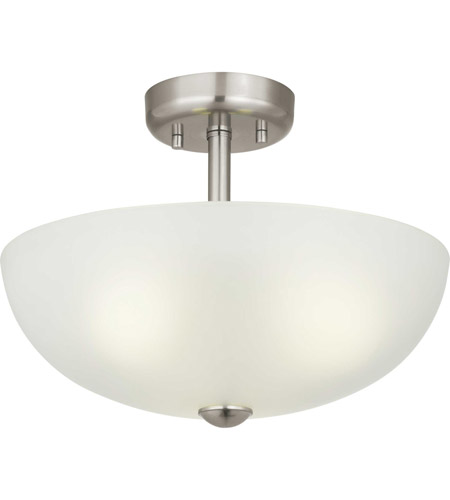 Brushed Nickel Glass Pendants