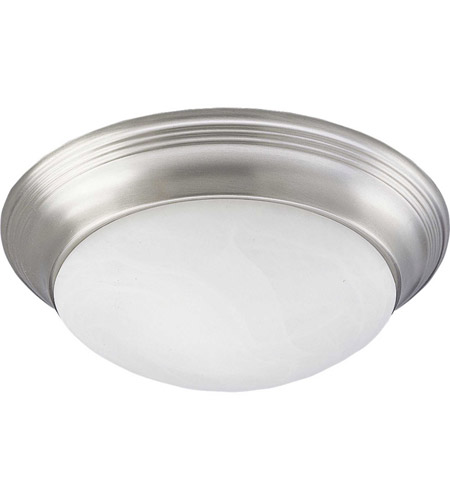 Progress P3688-09 Alabaster Glass 1 Light 12 inch Brushed Nickel Flush Mount Ceiling Light in Swirled Alabaster photo