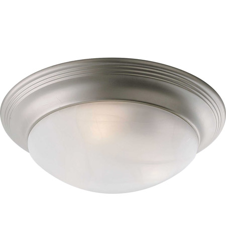 Progress P3697-09 Alabaster Glass 3 Light 17 inch Brushed Nickel Flush Mount Ceiling Light in Etched Alabaster photo