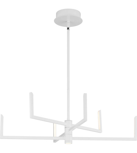 Progress P400260-028-30 Pivot LED LED 28 inch Satin White Chandelier Ceiling Light, Progress LED photo