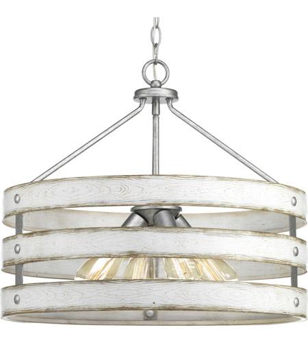 Progress P500023 141 Gulliver 4 Light Galvanized Pendant Ceiling Light