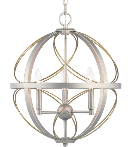 Progress P500068-134 Brandywine 3 Light Silver Ridge Pendant Ceiling Light photo