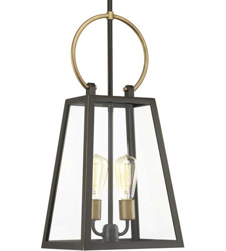 Progress P550028 020 Barnett 2 Light 11 Inch Antique Bronze Outdoor Hanging Lantern