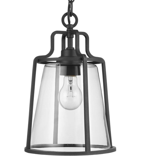 Progress P550065-031 Benton Harbor 1 Light 9 inch Textured Black Outdoor Hanging Lantern, with DURASHIELD photo