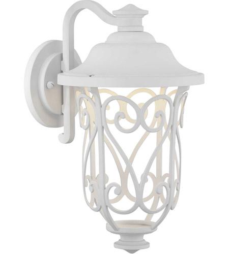 Progress P560104 030 30 Leawood Led 14 Inch White Outdoor Wall Lantern Design Series