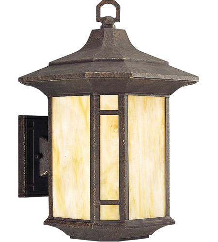 Progress P5629 46 Arts And Crafts 1 Light 15 Inch Weathered Bronze Outdoor Wall Lantern In Standard Medium