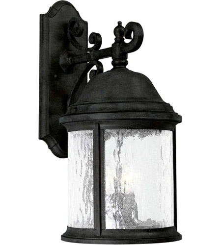 Progress P5651-31 Ashmore 3 Light 21 inch Textured Black Outdoor Wall Lantern photo