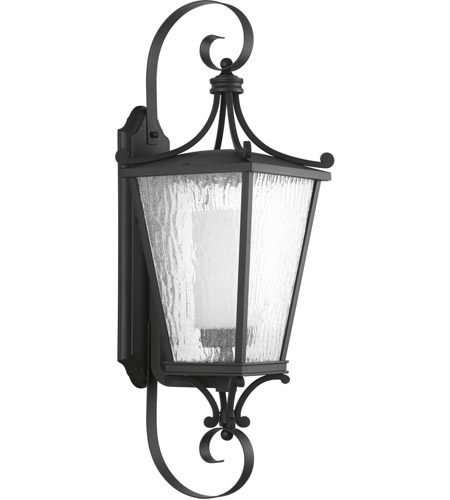 Progress P6628-31MD Cadence 1 Light 31 inch Textured Black Outdoor Wall Lantern, Large, Design Series photo