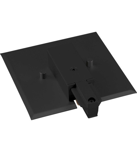 Progress P8745-31 Alpha Trak 120 Black Track End Feed with Flush Canopy Ceiling Light photo