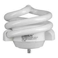 Progress Lighting CFL Lamp 1 Light Light Bulb in White MLS18GUSWW6