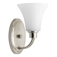 Joy 1 Light 6 inch Brushed Nickel Bath Vanity Wall Light in Etched