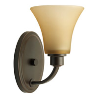 Joy 1 Light 6 inch Antique Bronze Bath Vanity Wall Light in Etched Light Umber