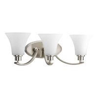 Joy 3 Light 22 inch Brushed Nickel Bath Vanity Wall Light in Etched