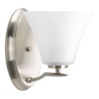 Progress Bravo 1 Light Bath Light in Brushed Nickel P2004-09WB