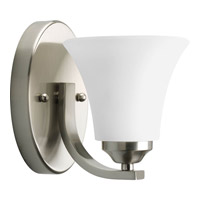 Progress P2008-09 Adorn 1 Light 5 inch Brushed Nickel Bath Vanity Wall Light in Etched alternative photo thumbnail