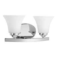 Progress P2009-15 Adorn 2 Light 13 inch Chrome Bath Vanity Wall Light in Etched