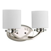 Nisse 2 Light 15 inch Polished Nickel Bath Vanity Wall Light