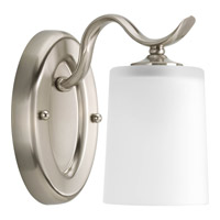 Progress Lighting Inspire 1 Light Bath Vanity in Brushed Nickel P2018-09