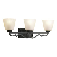 Progress Lighting Thomasville Meeting Street 3 Light Bath Vanity in Forged Black P2024-80