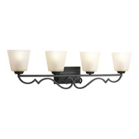 Progress Lighting Thomasville Meeting Street 4 Light Bath Vanity in Forged Black P2025-80