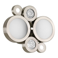 Progress Lighting Bingo 2 Light Bath Vanity in Brushed Nickel P2026-09WB