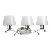 Progress Lighting Dazzle 3 Light Bath Light in Brushed Nickel P2052-09