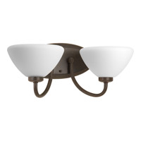 Progress Rave 2 Light Vanity in Forged Bronze P2071-77